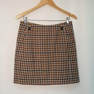 👢 Banana Republic Wool Plaid Mini Skirt 8 M